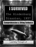 I Survived THE HINDENBURG DISASTER, 1937 - Comprehension & Citing Evidence