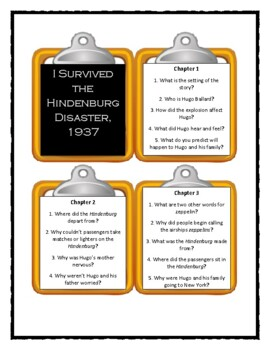 I Survived THE HINDENBURG DISASTER, 1937 - Discussion Cards