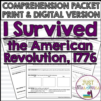 I Survived The American Revolution, 1776 Comprehension Packet
