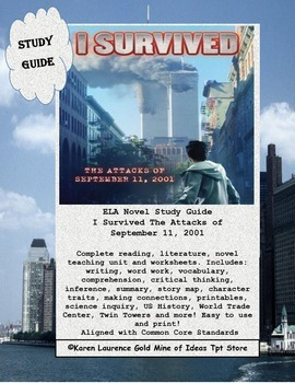 I Survived The Attacks of September 11, 2001 ELA Book Study Guide Printable