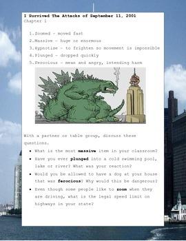 I Survived The Attacks of September 11, 2001 Tarshis Novel Study Guide Printable