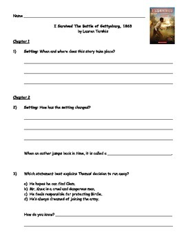 I Survived The Battle of Gettysburg, 1863 - Guided Reading Packet