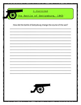 I Survived The Battle of Gettysburg, 1863 - Comprehension & Citing Evidence
