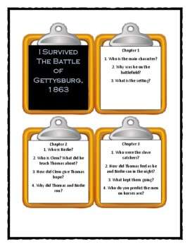 I Survived THE BATTLE OF GETTYSBURG, 1863 - Discussion Cards