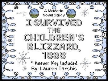 I Survived The Children's Blizzard, 1888 (Lauren Tarshis) Novel Study (32 pages)