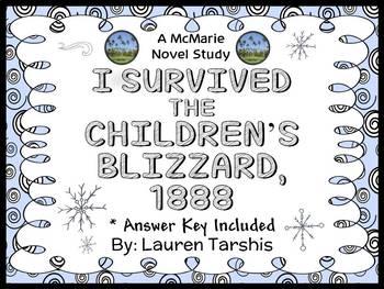 I Survived The Children's Blizzard, 1888 (Lauren Tarshis) Novel Study (32 pages)