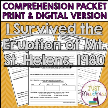 I Survived The Eruption of Mount St. Helens, 1980 Comprehension Packet