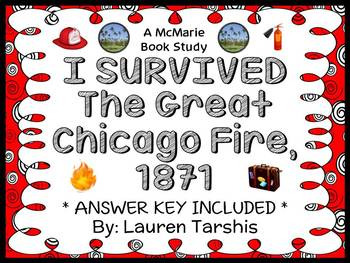 I Survived The Great Chicago Fire, 1871 (Lauren Tarshis) Novel Study (34 pages)