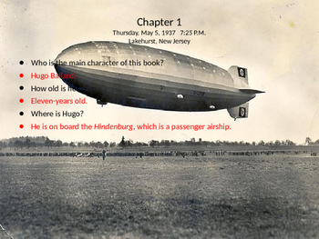 I Survived The Hindenburg Disaster, 1937 Book Study PowerPoint