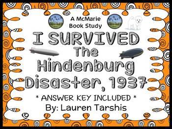 I Survived The Hindenburg Disaster, 1937 (Tarshis) Novel Study / Comprehension
