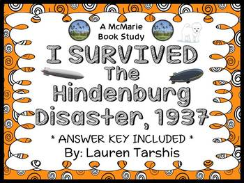 I Survived The Hindenburg Disaster, 1937 (Lauren Tarshis) Novel Study (38 pages)