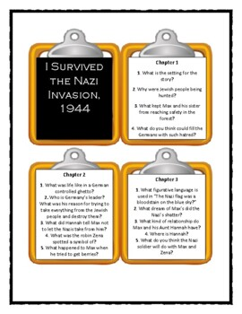 I Survived THE NAZI INVASION, 1944 - Discussion Cards