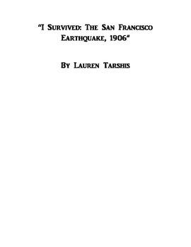 """I Survived: The San Francisco Earthquake, 1906"""