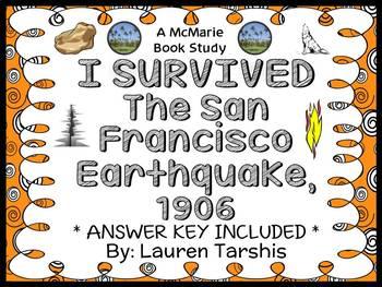 I Survived The San Francisco Earthquake, 1906 (Lauren Tarshis) Novel Study