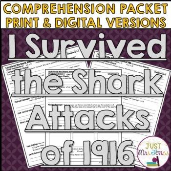 I Survived The Shark Attacks of 1916 Comprehension Packet