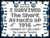 I Survived The Shark Attacks of 1916 Novel Study / Reading Comprehension