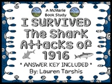I Survived The Shark Attacks of 1916 (Lauren Tarshis) Novel Study  (29 pages)