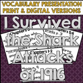 I Survived The Shark Attacks of 1916 Vocabulary Presentation