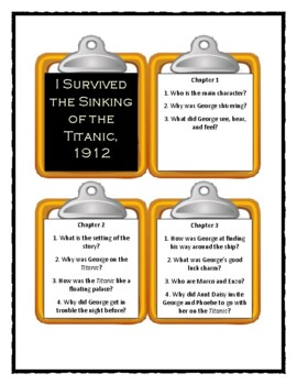 I Survived THE SINKING OF THE TITANIC, 1912 - Discussion Cards