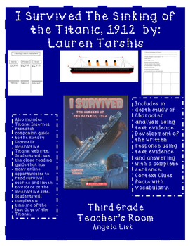 I Survived The Sinking of the Titanic Core Aligned Close Reading Guide Bundle