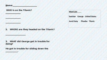 I Survived The Titanic- activities