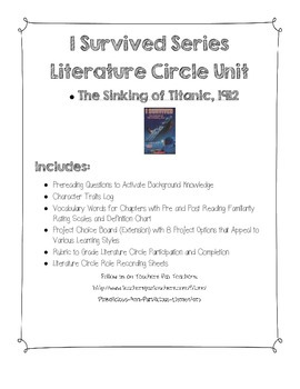 I Survived Titanic Literature Circle Jobs Vocabulary Rating Rubric Extensions