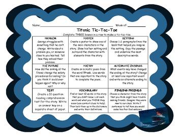 I Survived... Titanic Tic-Tac-Toe