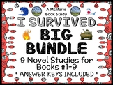 I Survived BIG BUNDLE (Lauren Tarshis) 9 Novel Studies : Books #1-9  (290 pages)