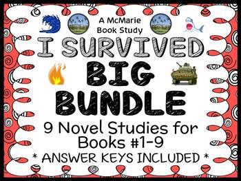 I Survived BIG BUNDLE (Lauren Tarshis) 9 Novel Studies : Books #1-9  (290 pages)
