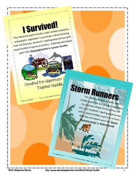 I Survived and Storm Runners Bundle - Writing & Reading Ex