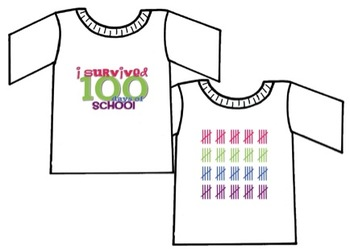 I Survived the 100th Day of School - T-Shirt Iron-On Print