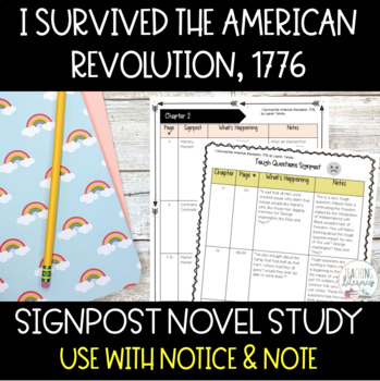 Notice & Note Signpost Guide-I Survived the American Revolution,1776-Novel Study