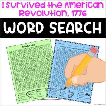 Word Search - I Survived the American Revolution, 1776 - Fun Bell Ringer!