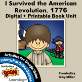 I Survived the American Revolution, 1776 Novel Study: Digital + Printable Unit