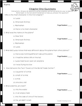 I Survived the Attacks of September 11, 2001 Comprehension Questions