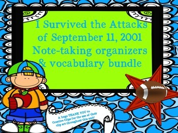 I Survived the Attacks of September 11, 2001 - Note-taking Journal