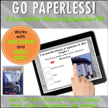 Google Classroom™ I Survived Series Paperless Novel Study