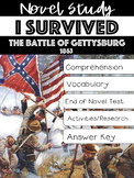 I Survived the Battle of Gettysburg, 1863 Novel Study Lauren Tarshis