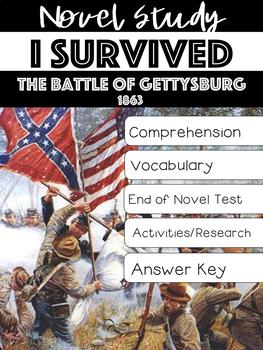 I Survived the Battle of Gettysburg, 1863 Novel Study Lauren Tarshis