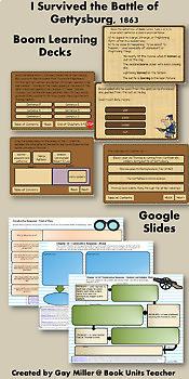 I Survived the Battle of Gettysburg,1863:Novel Study: Digital + Printable Unit
