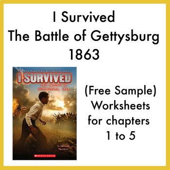 I Survived the Battle of Gettysburg 1863 worksheets (Chapters 1 - 5)