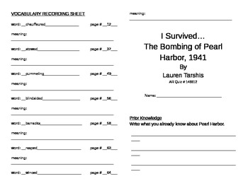 I Survived the Bombing of Pearl Harbor Literature Unit