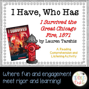 I Survived the Chicago Fire 1871 I Have Who Has Reading Comprehension