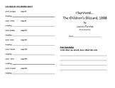 I Survived the Children's Blizzard, 1888 Literature Unit