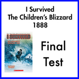 I Survived the Children's Blizzard 1888 Novel Test (Paper AND Google Forms)
