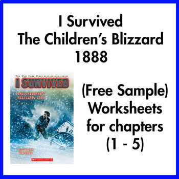 I Survived the Children's Blizzard 1888 worksheets (Chapters 1 - 5)