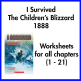I Survived the Children's Blizzard 1888 worksheets (all ch
