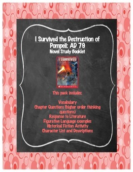 I Survived the Destruction of Pompeii AD 79 Novel Study Booklet
