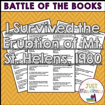 I Survived the Eruption of Mt. St. Helens, 1980 Battle of the Books Questions