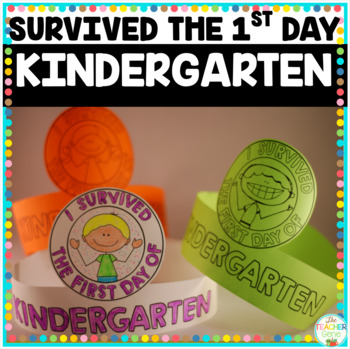 I Survived the First Day {and Week} of Kindergarten Crowns